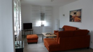 Wohnzimmer Ferienwohnung Holzhausen